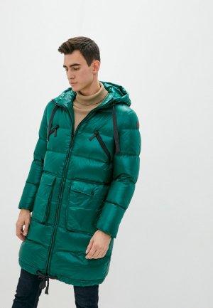 Пуховик Trussardi Jeans. Цвет: зеленый