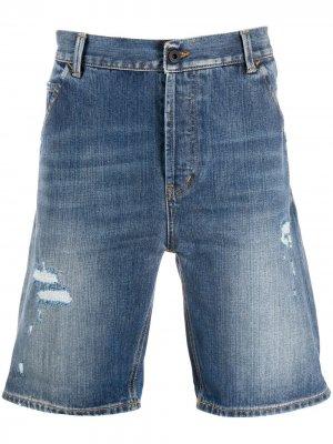 Джинсовые шорты с эффектом потертости Dondup. Цвет: синий
