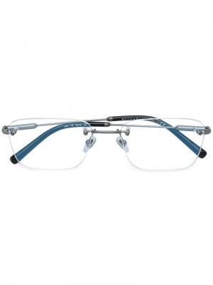 Классические очки в квадратной оправе Bulgari. Цвет: белый