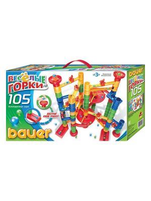 Игровой набор Весёлые горки 105 эл. ( в коробке) 12/12 Bauer. Цвет: зеленый