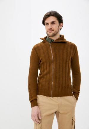 Кардиган Primo Emporio. Цвет: коричневый