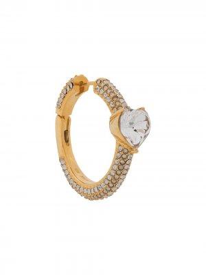Серьга-кольцо с кристаллами AMBUSH. Цвет: золотистый