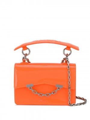Мини-сумка на плечо K/Karl Seven Karl Lagerfeld. Цвет: оранжевый