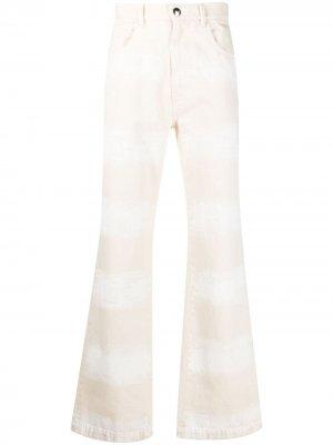Расклешенные джинсы с принтом Marni. Цвет: нейтральные цвета