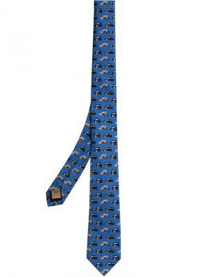 Узкий галстук Burberry. Цвет: синий