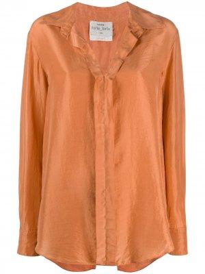 Рубашка Habotai с длинными рукавами Forte. Цвет: оранжевый