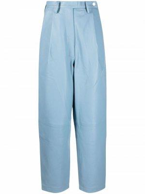 Зауженные брюки REMAIN. Цвет: синий