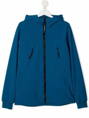 Куртка с капюшоном C.P. Company Kids. Цвет: синий