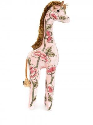 Мягкая игрушка в виде жирафа с вышивкой Anke Drechsel. Цвет: розовый