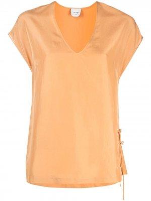 Блузка с V-образным вырезом Alysi. Цвет: оранжевый