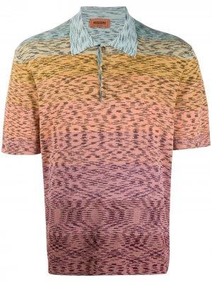 Трикотажная рубашка поло Missoni. Цвет: розовый