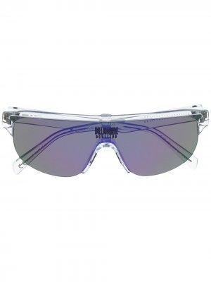 Солнцезащитные очки в полуободковой оправе Billionaire Boys Club. Цвет: белый