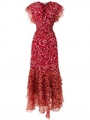 Платье макси Pri Isolda. Цвет: красный