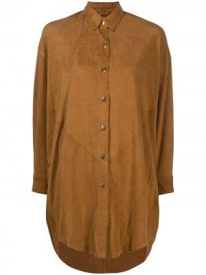 Блузка на пуговицах Mes Demoiselles. Цвет: коричневый
