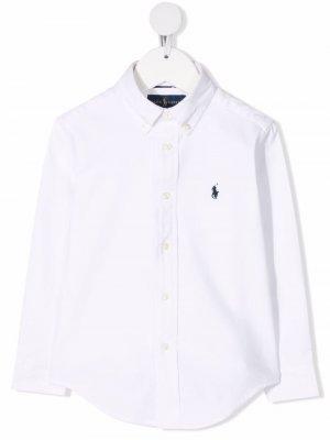 Рубашка с вышивкой Polo Poney Ralph Lauren Kids. Цвет: белый