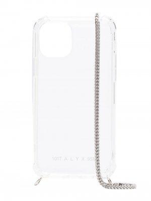 Прозрачный чехол для iPhone 12 с цепочкой 1017 ALYX 9SM. Цвет: нейтральные цвета