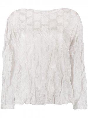 Блузка с жатым эффектом Emporio Armani. Цвет: серый