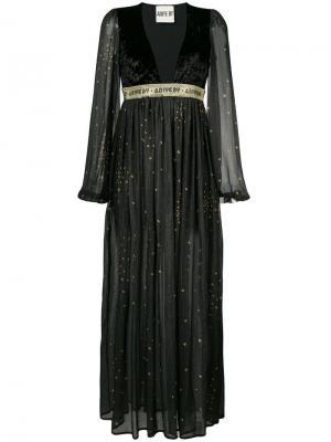 Удлиненное платье с принтом звезд Aniye By. Цвет: черный