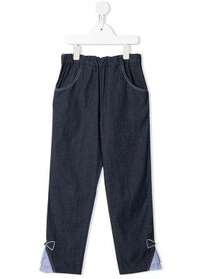 Зауженные джинсы Familiar. Цвет: синий