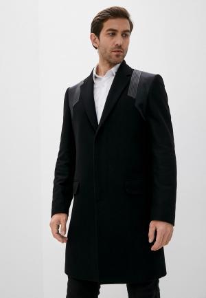 Пальто Les Hommes. Цвет: черный