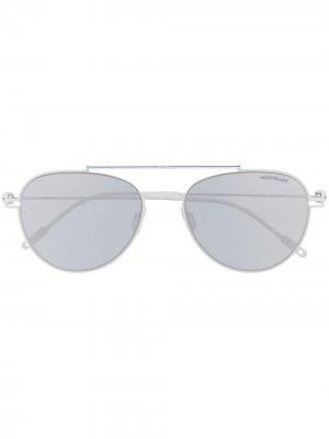 Солнцезащитные очки-авиаторы Montblanc. Цвет: белый