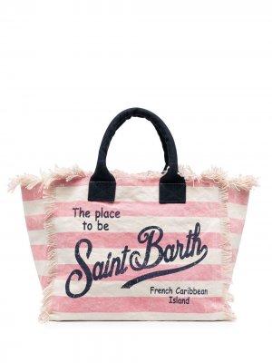 Пляжная сумка в полоску Mc2 Saint Barth. Цвет: нейтральные цвета