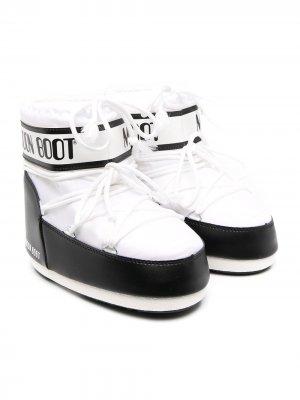 Сапоги луноходы Moon Boot Kids. Цвет: белый