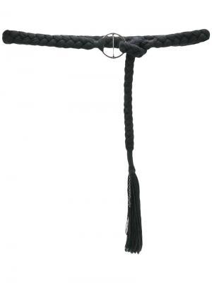 Пояс плетения косичкой Saint Laurent. Цвет: черный