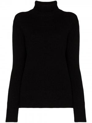 Кашемировый свитер с высоким воротником Ply-Knits. Цвет: черный