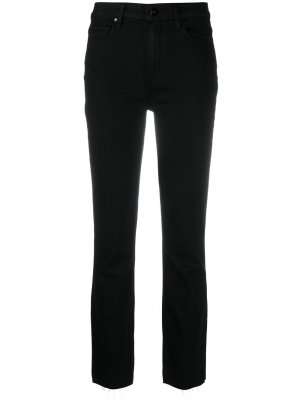 Прямые джинсы с завышенной талией PAIGE. Цвет: черный