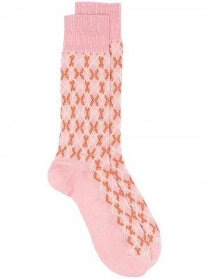 Носки с принтом Marni. Цвет: розовый