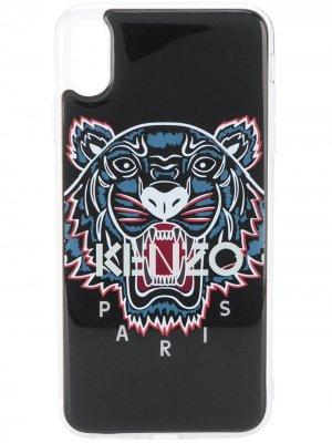 Чехол Tiger для iPhone XS Max Kenzo. Цвет: черный