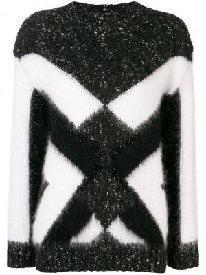 Geometric Intarsia sweater Alberta Ferretti. Цвет: черный