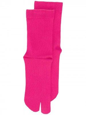 Носки Tabi Maison Margiela. Цвет: розовый