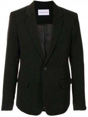 Однобортный пиджак Proto Strateas Carlucci. Цвет: черный