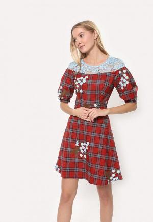 Платье Tutto Bene. Цвет: красный