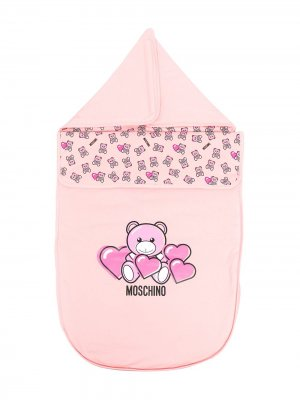 Конверт Teddy с логотипом Moschino Kids. Цвет: розовый
