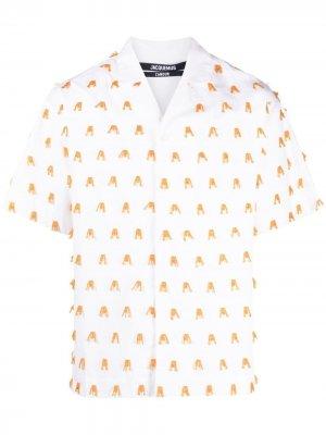 Рубашка La Chemise Blé с вышивкой Jacquemus. Цвет: белый