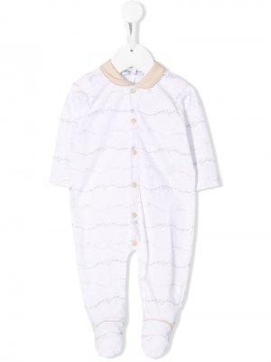 Пижамный комплект с логотипом Emporio Armani Kids. Цвет: белый