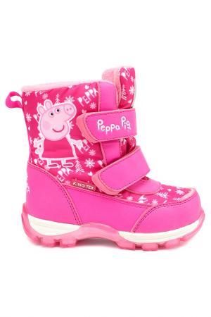 Сапожки PEPPA PIG. Цвет: фуксия