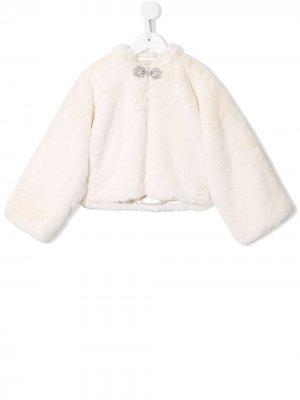 Декорированная куртка Seraphina Tutu Du Monde. Цвет: белый