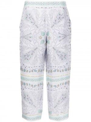 Укороченные брюки с принтом Conchiglie Emilio Pucci. Цвет: фиолетовый