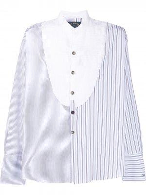 Полосатая рубашка с манишкой Paul & Shark. Цвет: синий