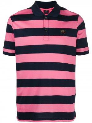 Striped short sleeve polo shirt Paul & Shark. Цвет: розовый