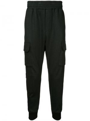 Зауженные к низу брюки с карманами-карго Wooyoungmi. Цвет: черный