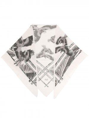 Кашемировый шарф с логотипом Lala Berlin. Цвет: серый