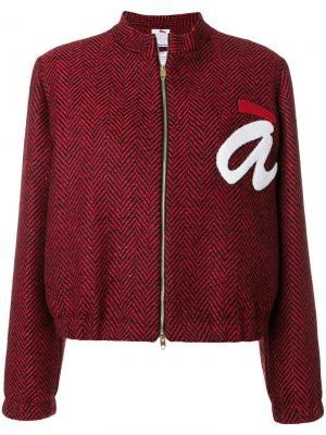 Укороченная куртка с логотипом Ultràchic. Цвет: красный