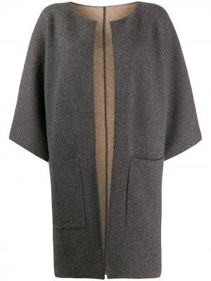 Пальто-кардиган без застежки Liska. Цвет: серый
