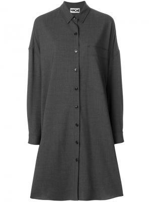 Платье-рубашка Hache. Цвет: серый