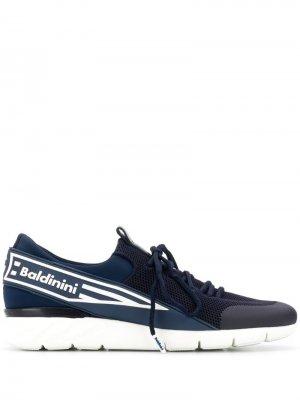 Кроссовки с логотипом на ремешке Baldinini. Цвет: синий